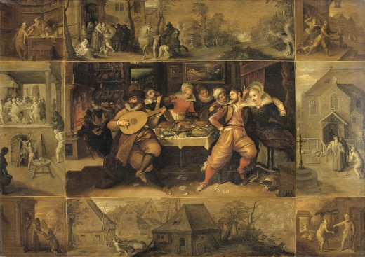 Frans Francken: The story of the prodigal son