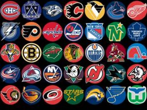 Logos from the National Hockey League. Hockey is a very physical contact sport and it can be really dangerous.