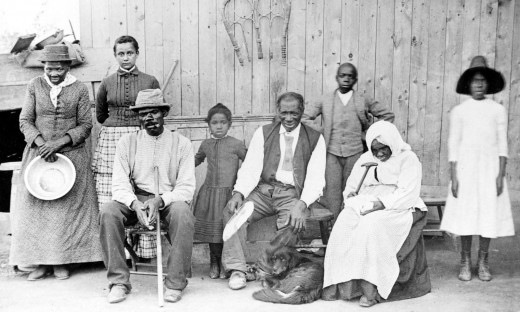 Harriet Tubman with Family & Rescued Slaves