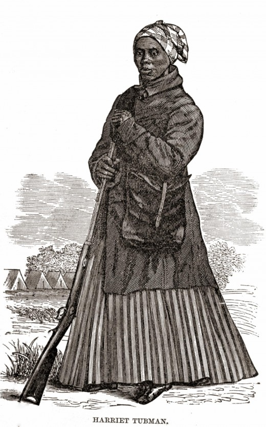 Harriet Tubman in Civil War clothing
