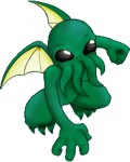 Cthulu comic graphic from Fandemonium conventions in Idaho (link below).