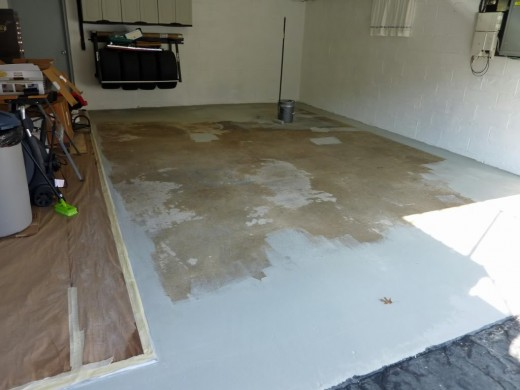 Epoxy being applied