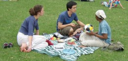 Picnics are a great time for fellowship.