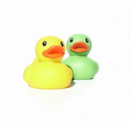 The rubber ducky relay game will allow everyone a chance to sing and be silly.