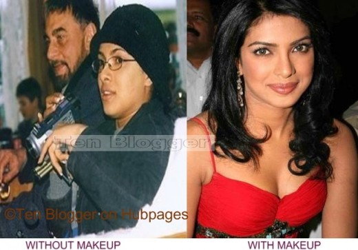 heroines without makeup. Priyanka Chopra Without Makeup
