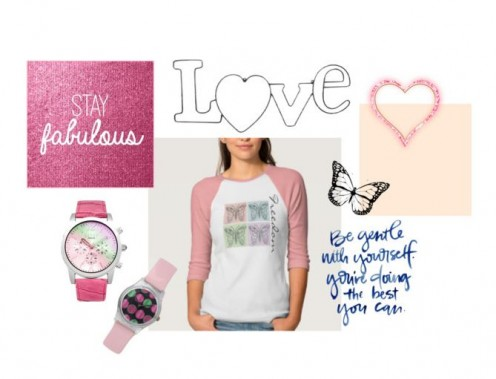 Sweet Love And Pink Tee And Accessories
