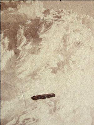 The oldest known UFO photo taken around 1870 at the peak of Mount Washington