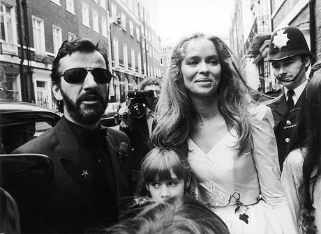 Ringo Starr and wife,  the lovely, Barbara Bach.