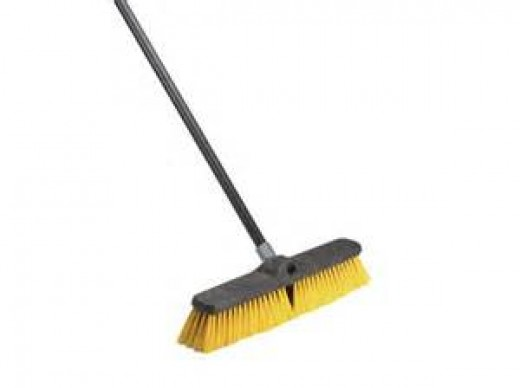 Push Broom - I took this opportunity to clean all of the pine needles off of all of the valleys.