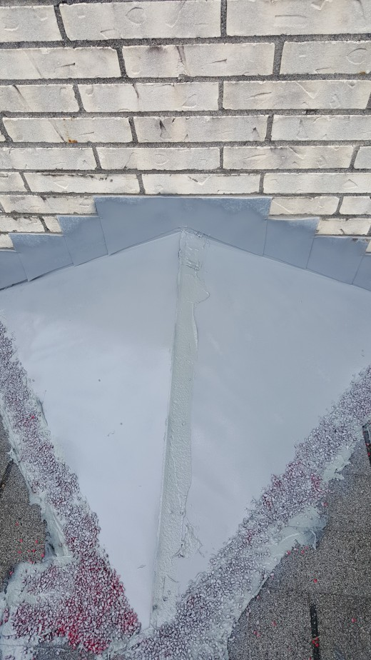 Finished Chimney Flashing Repair