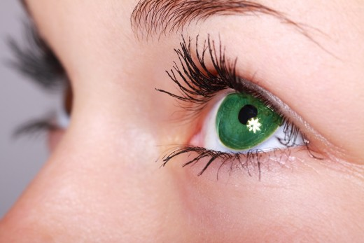 "If you want your green eyes to really ""pop"" wear green mascara and eyeliner. But if your eyes are very green, or you are wearing green contacts, even black mascara will define your eyes and make the color more noticeable."