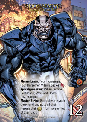 Apocalypse, the big bad of this expansion who is much stronger than his Attack would lead you to believe