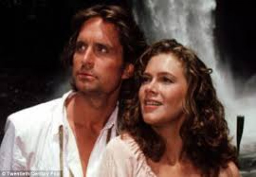 Kathleen with frequent co-star Micheal Douglas in Romancing The Stone