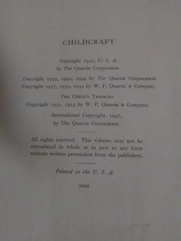 Set # 2 - Copyright Page Child Craft