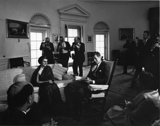 Indira Gandhi meeting with JFK