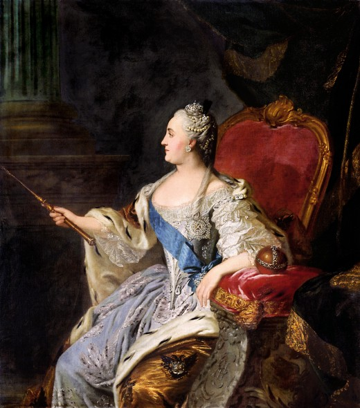 Catherine the Great by Russian by Fyodor Rokotov