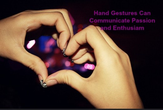 Hand gestures and other non-verbal communication should be congruent, matching what is being said.