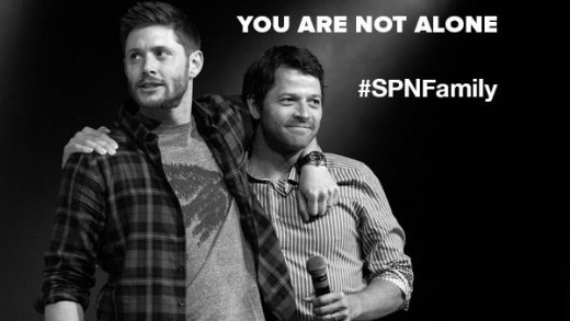 Jensen Ackles and Misha Collins from CW's Supernatural raised a You Are Not Alone campaign aiming to help fans with mental health issues, addiction and self-injury.