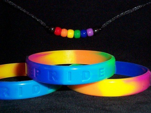 Gay Pride Rainbow Bangles