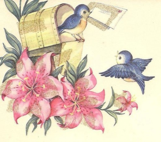 (vintage greeting card/ public domain
