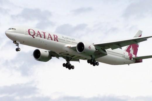 A Boeing 777 belonging to Qatar Airways