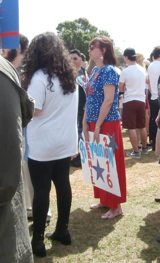 Hand-painted sign at the rally in Kissimmee, Florida.