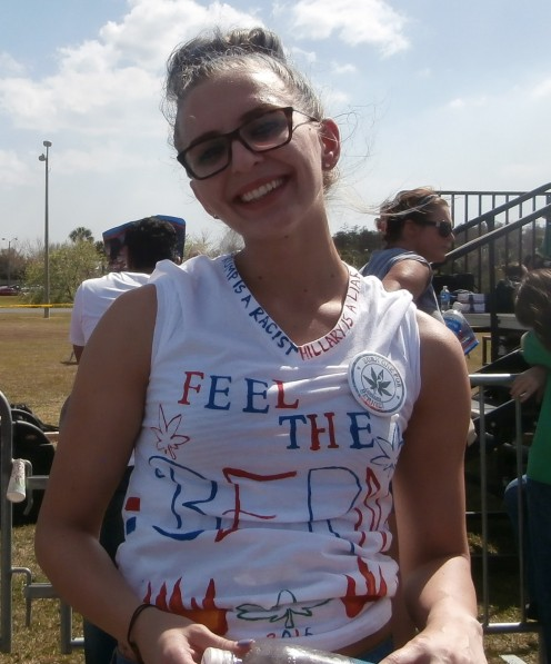 I took this photo at the Kissimmee, Florida rally for Bernie Sanders in March 2016.