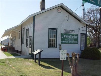Plains Train Station Jimmy Carter Campaign Headquarters