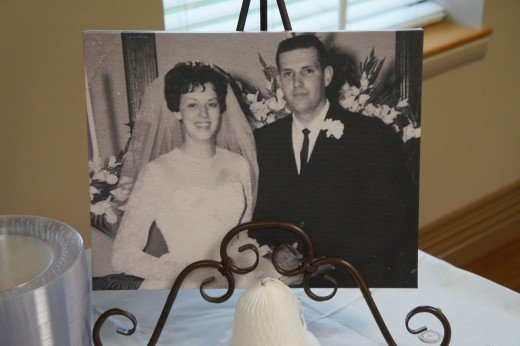 Evelyn & Jim (their THEN photo re-done on canvas)