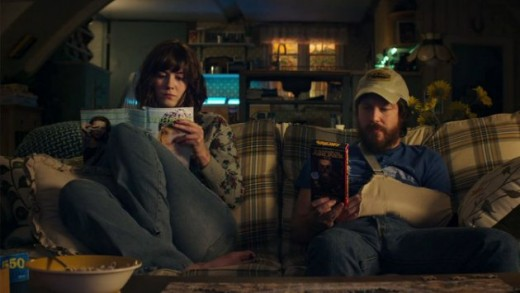 Just another day in captivity. Winstead's Michelle and Gallagher Jr.'s Emmett attempting to bond.
