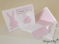 Easy Easter Card Making Ideas with Matching Envelope Liner and Gift Tag - Step by Step Guide
