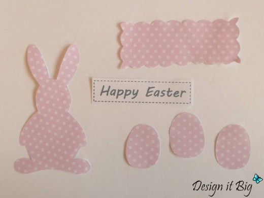 Cut out Easter Bunny, Eggs and Motif Embellishments.