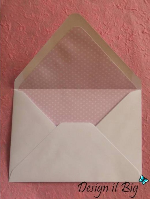 How to make envelope liners without a punch board. No fancy tools needed.