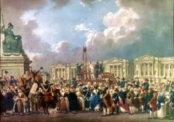 Illustration of an execution, place de la Revolution, Paris.