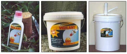 Vigilant is available in a 240 gram brush bottle, a 1.8 kg refill pack, and a 20kg pail with pump