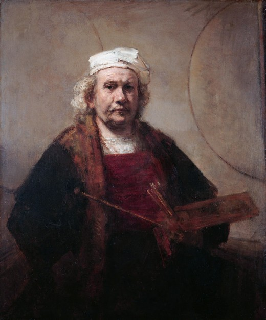 Self Portrait of Rembrandt in Old Age