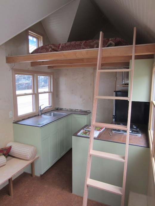 Interior of Seattle Tiny Homes' showcase model home.