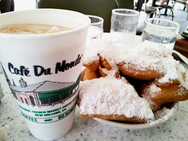 Frozen Coffee and Beignets are great at any time