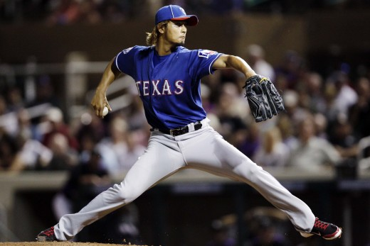 Yu Darvish seeks his comeback from Tommy John surgery in 2016.