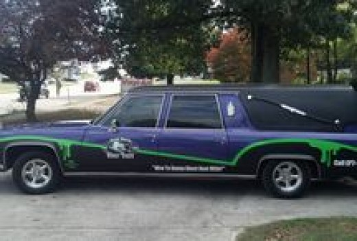 Heloise the Purple Hearse, mascot of Haunted Knoxville.