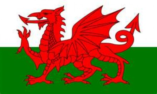 The Welsh flag:  Welsh people are patriotic and embrace their culture.