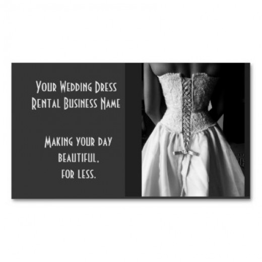 Wedding dress Rental Business Cards