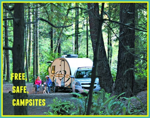 There are hundreds of safe spots where you can camp or park your RV temporarily for free.