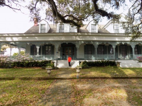 Front of Plantation Home
