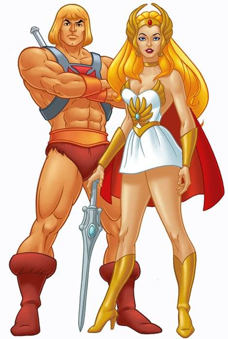 She-Ra and her brother, He-Man