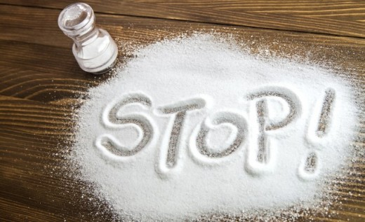 Salt with a message on it.