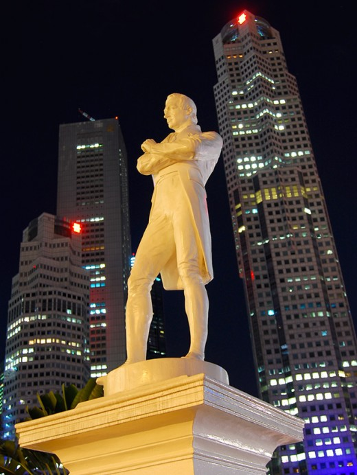 Sir Thomas Stamford Raffles, founder of modern Singapore.
