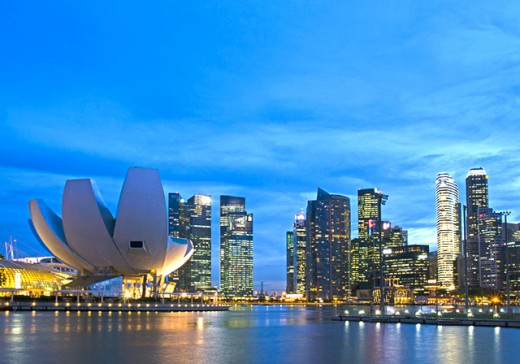 ArtScience Museum and Marina Bay Reservoir.