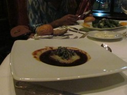 Succulent French Onion Soup was just one of our starters for dinner.