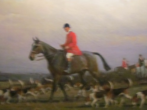 "A painting entitled, ""Master of the Fox Hound."""